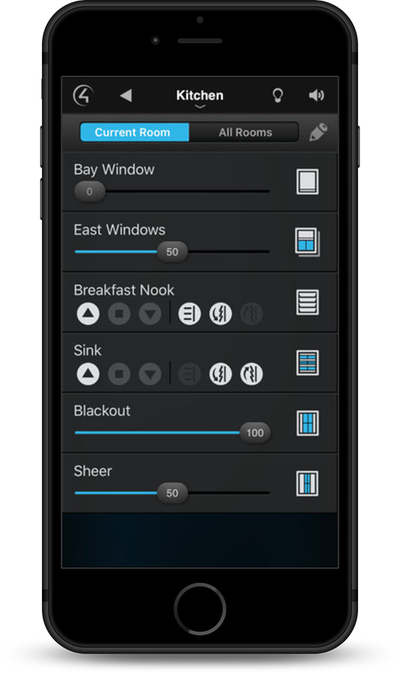 Lighting Control Lutron App